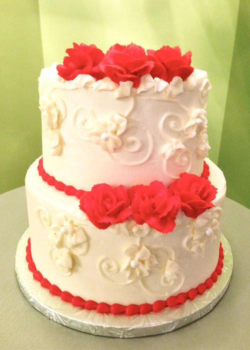 Charlotte Tiered Cake - Red