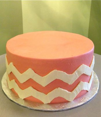 Chevron Layer Cake