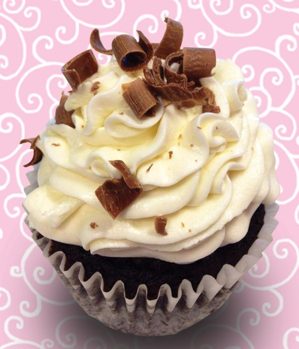 French Silk Jumbo Filled Cupcake