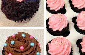 Jumbo Gender Reveal Filled Cupcake