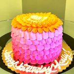 Petra Ombre Layer Cake - Pink & Orange