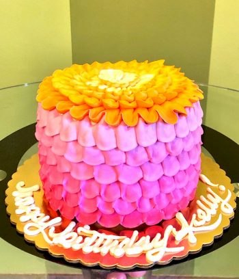 Petra Ombre Layer Cake - Pink & Orange