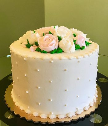 Rose Layer Cake - Blush & White