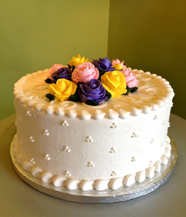 Rose Layer Cake - Purple