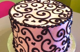 Scroll Heart Layer Cake