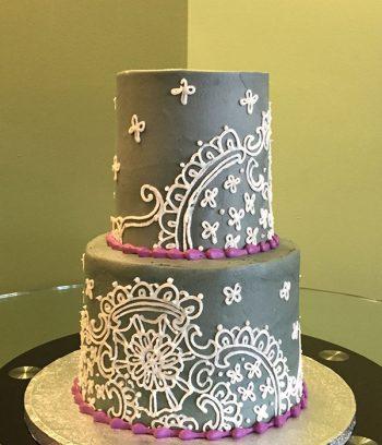 Soleil Tiered Cake - Grey