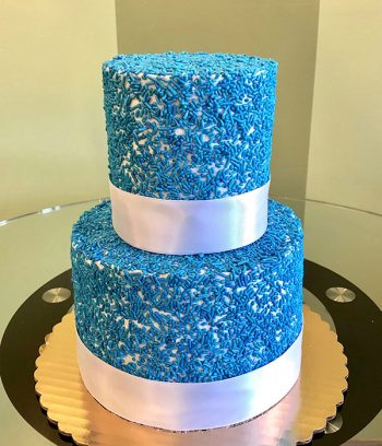 Sprinkle Tiered Cake - Blue