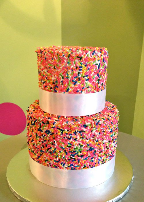 Sprinkle Tiered Cake Classy Girl Cupcakes