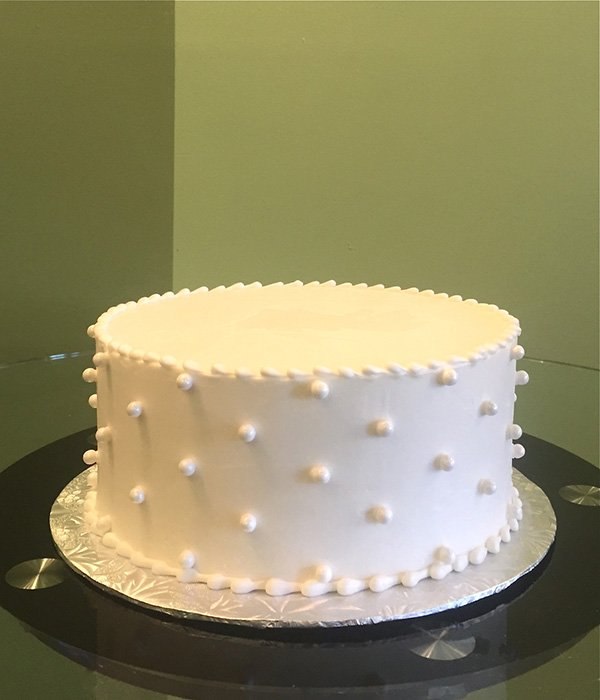 Sugar Pearl Button Layer Cake Classy Girl Cupcakes