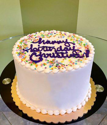 Confetti Layer Cake - White & Purple