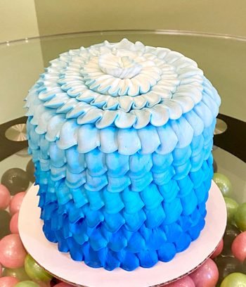 Petra Ombre Layer Cake - Blue