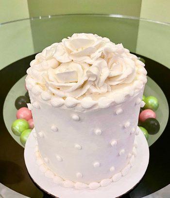 Rose Layer Cake - White