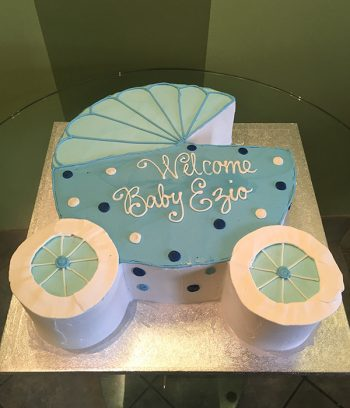 Baby Carriage Cake - Blue