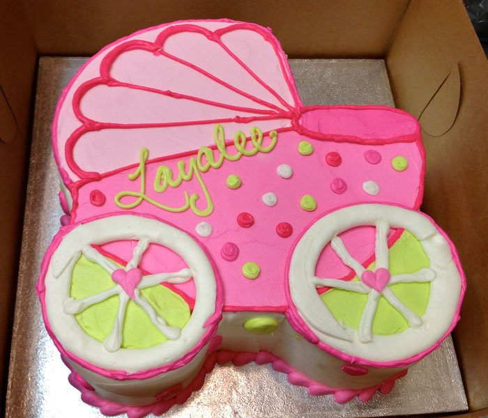 baby carriage cake � classy girl cupcakes