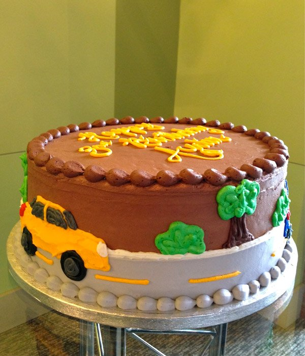 Car Layer Cake - Yellow Car