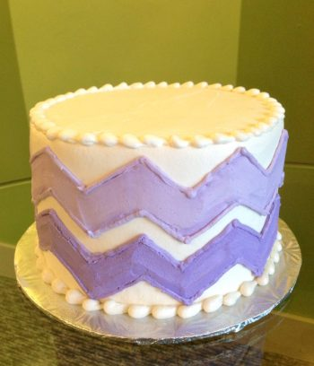 Chevron Layer Cake - Purple