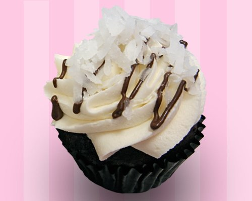 Chocolate Covered Coconut Cupcake