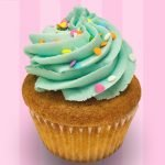 Confetti Cupcake - Blue Buttercream