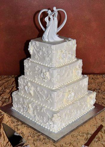 Florissa Wedding Cake - Square