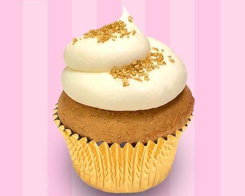 Golden Eggnog Cupcake