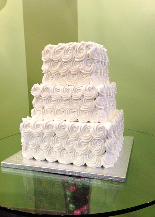 Rosette Wedding Cake - Square
