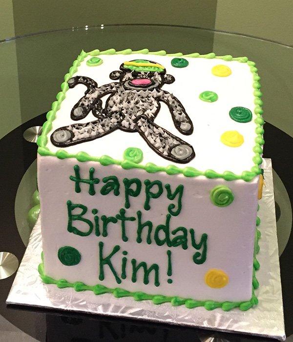 Miraculous Sock Monkey Layer Cake Classy Girl Cupcakes Birthday Cards Printable Giouspongecafe Filternl
