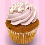 White Chocolate Blackberry Cupcake