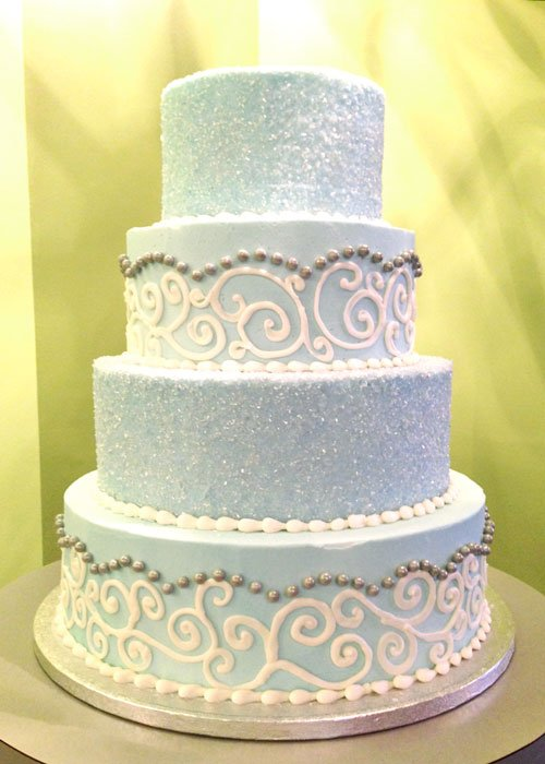 Snow Wedding Cake