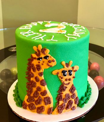 Giraffe Layer Cake - Side
