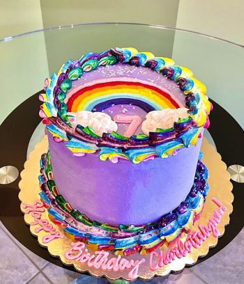Rainbow Layer Cake - Purple