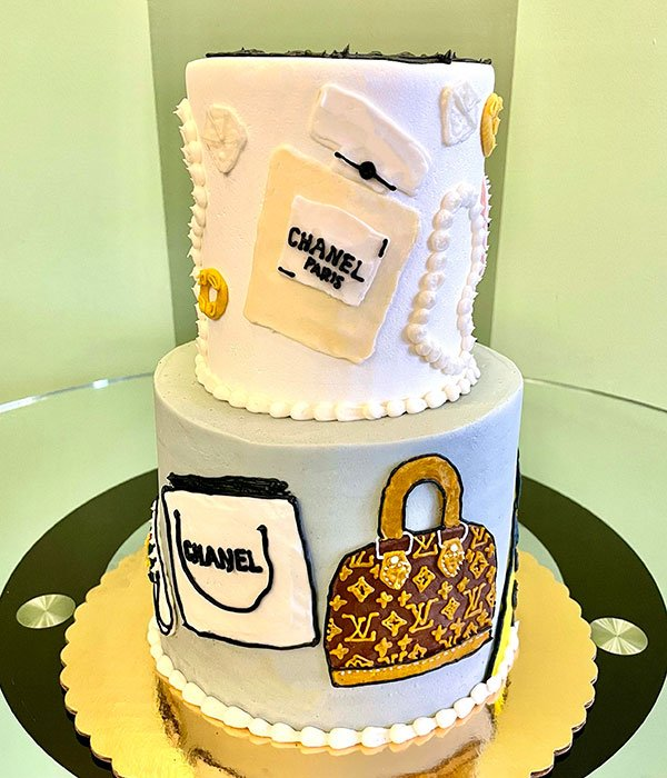 Shopaholic Tiered Cake