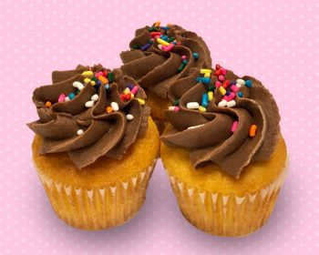 Butter Yellow Mini Cupcake - Chocolate