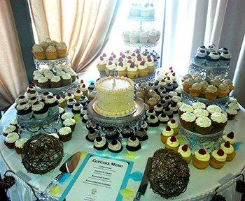 Classy Girl Cupcakes Wedding Display