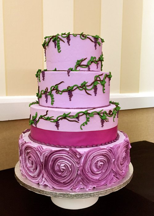 Grapevine Wedding Cake