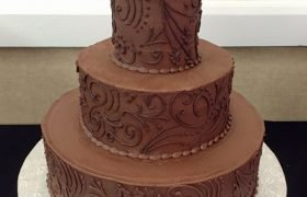 Linnea Wedding Cake, Chocolate