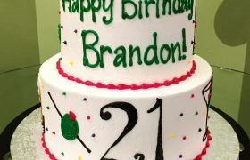21st Birthday Tiered Cake
