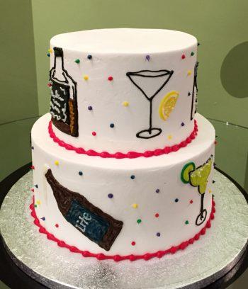21st Birthday Tiered Cake - Back