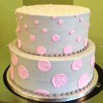Alice Tiered Cake - Grey Pink