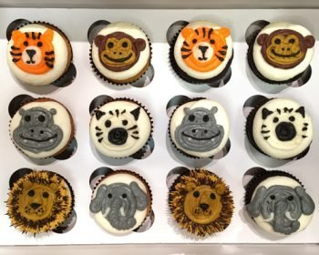 Animal Face Decorated Cupcakes