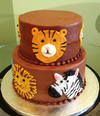 Animal Face Tiered Cake