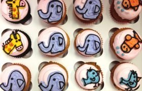 Animal Outline Cupcakes