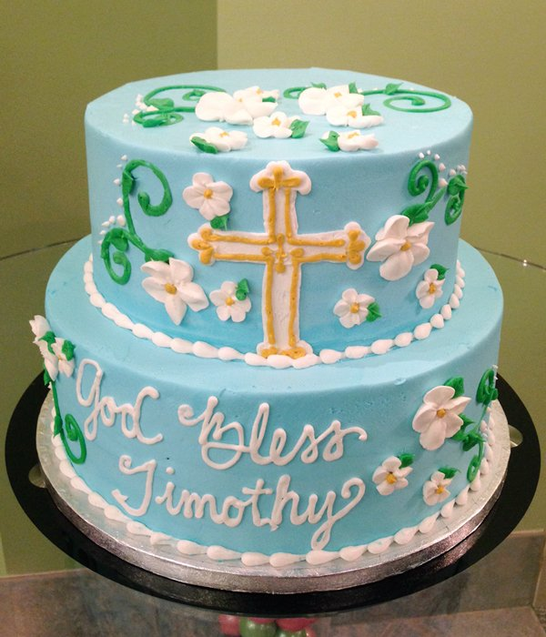 Baptism Tiered Cake