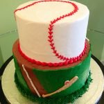Sports Tiered Cake - Baseball