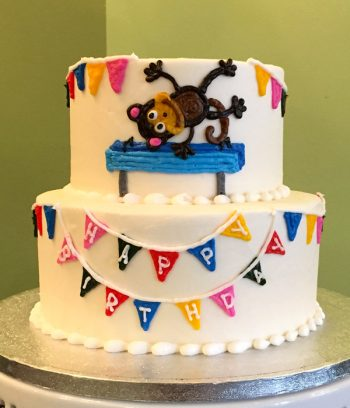 Birthday Banner Tiered Cake
