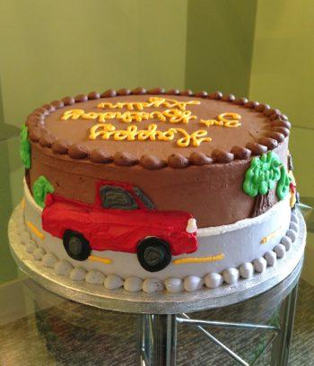 Car Layer Cake - Red Car