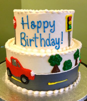 Car Tiered Cake - Front