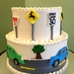 Car Tiered Cake
