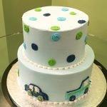 Car Polka Dot Tiered Cake