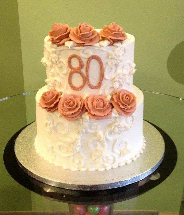 Charlotte Tiered Cake - Mauve
