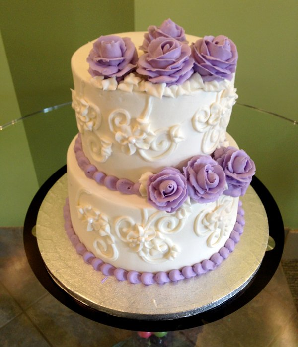 Charlotte Tiered Cake - Purple
